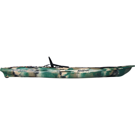 Kayak and Canoe The Feelfree Moken 12.5 Kayak combines the speed and stable performance that large lakes and rough coastal waters demand with the features serious anglers need for full-day excursions. Multiple in-molded rod holders and storage hatches handle your gear, while the comfy Kingfisher seat takes the pain out of sitting when you're not standing and casting. For easily transportation down the boat ramp, there's the signature Feelfree Wheel in the Keel. - $1,099.00