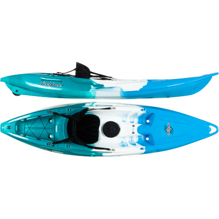 Kayak and Canoe Sometimes a relaxing solo excursion is exactly what you need to wash away the worries of the day. With the Feelfree Nomad Sit-On-Top Kayak, you'll have enough maneuverability to explore shallow coves and inlets and enough stability to throw in a line and see if anything bites. Plus, the Feelfree Wheel in the Keel design allows you simply roll the kayak to and from the water, making transport a piece of cake. - $699.00