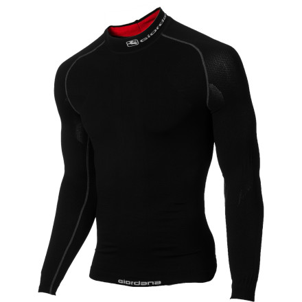 Fitness Unless you live in the Arctic Tundra, you can survive most of the winter with just a long sleeve base layer and jersey. However, should you place your faith in the wrong base layer, this recipe for success will go sour, quickly. That's why we recommend the Giordana Heavyweight Carbon Base Layer for winter riding. With it, you receive a precise, Italian fit, a sophisticated fabric selection, and most importantly, a warm and dry ride quality. To achieve this, Giordana constructed its Heavyweight Carbon Base Layer from the Dryarn fabric, a relatively new kind of polypropylene fiber. Basically, it was designed with a winter-weight denier that's been knit into a tubular construction. The principle behind this is twofold. The tubular composition of the knit creates a varied density over the form of the base layer. Accordingly, the variation in thickness creates an enhanced level of body conformity, especially in consideration of the cycling position. In fact, you'll find that Giordana designed the fabric to be thicker over your chest, but thinner on your stomach; and thicker on the front of sleeves, while getting thinner around back. Essentially, Giordana has created a true next-to-skin fit that's at once comfortable and warming. And this brings us to the second design principle at work -- moisture management. As we all know, the warmer that you get, the more that you sweat. But, the question begs to be asked, where does all of the moisture go' With a simple cotton, the answer is nowhere. However, with the second-skin tubular Dryarn knit, moisture is rapidly transported away from the body. In fact, Dryarn's wicking capabilities are so immense that the base layer doesn't need a heavier weight in order to keep you warm. So, the minimal fabric weight promotes a greater ability to breathe, while actually keeping you warmer than most winter-weight fabrics. - $74.96