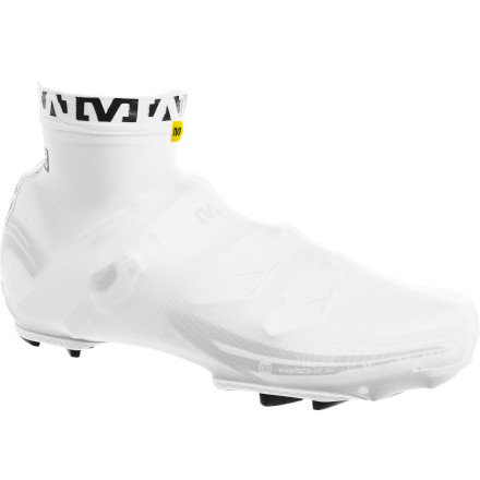Fitness When every second really does count, the Mavic Aero Shoe Covers take care of business. Constructed using Mavic's Sleek Stretch SL material, the Aero Shoe Covers smooth out those rough lines to allow air to pass over efficiently.Elastic cuff with silicone grip keeps the Aero Shoe Covers from shifting Cleat and walking pad opening to prevent slipping in the coffee shop - $29.95