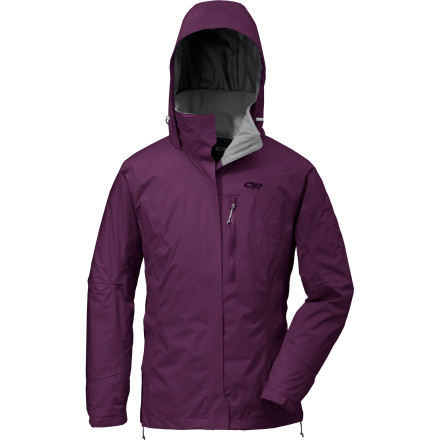 Fitness Take a break from your nine-to-five, Monday-to-Friday routine and get away with the Outdoor Research Women's Sojourn Jacket packed in your backpack, carry-on, or crag bag. Whether your getaway involves adventure racing, alpine climbing, mountain biking, trekking or touring, the Sojourn offers lightweight waterproof breathable protection from the elements. The stretchy, supple Pertex DS shell features a hydrophilic membrane that speeds moisture along to the outer surface, so you stay dry and comfortable no matter how hard you're working. - $94.98