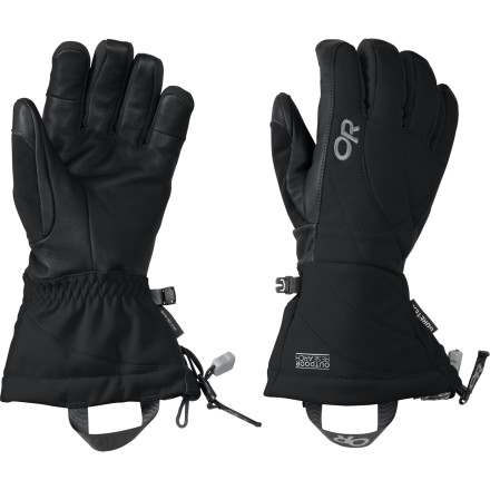 Ski The Outdoor Research Southback Glove is the kind of glove that you can wear every day of the season without having to worry if your hand is going to freeze off by lunch. Outdoor Research put the insulation exactly where you need it to concentrate the heat where you need it, then gave the Southback a guaranteed waterproof breathable membrane to let moisture out while guarding against Mother Nature's most insidious attacks. - $55.22