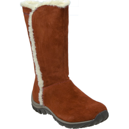When youre headed out on the town in the dead of winter, and cant afford to sacrifice style or warmth, pull on the Patagonia Womens Lugano Waterproof Boot. This warm winter boot knows how to keep your foot toasty in icy conditions, and looks good doing it. Patagonia lined the Luganos waterproof leather upper with soft fleece, and added 200 grams of Primaloft synthetic insulation to give the boot furnace-like warmth when you head out to shovel the walk or cruise the streets of Aspen. The multi-traction leaf sole comes from recycled rubber, and gives you a steady grip on slick sidewalks and icy hardpack. - $72.00