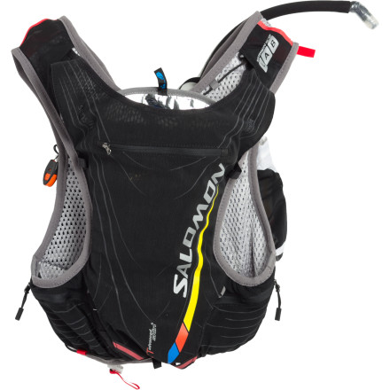 Fitness Salomon designed the XT Advanced Skin S-Lab 5 Hydration Pack Set to keep distance runners hydrated efficiently and comfortably. The Skin 5 hugs the body to eliminate the annoying bouncing that plagues other packs during a run. - $194.95