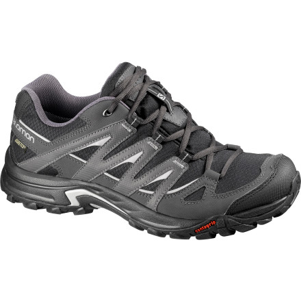 Camp and Hike The lightweight, trail-chomping Salomon Men's Eskape GTX Hiking Shoe provides the protection and support of a boot with the comfort of a shoe. Armed with a Gore-Tex waterproof membrane, water-resistant upper, and durable, grippy sole, you can puddle-jump, boulder-hop, or slosh past the snowline. In the Eskape, there is no unnecessary brawn or bulkonly the freedom of adventurous exploration. - $124.95