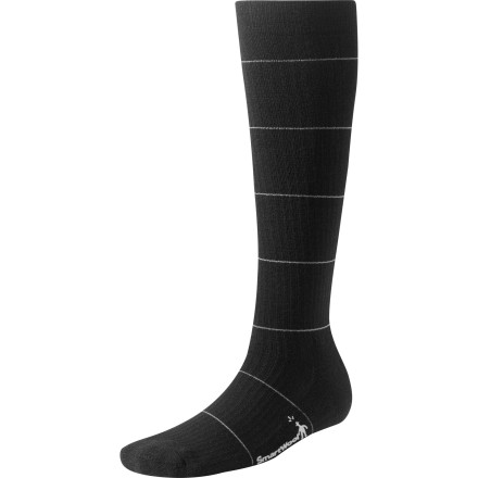 Ideal for travelers and people who are on their feet all day, the SmartWool Women's StandUP Compression Socks improve blood flow and minimize swelling caused by lower-leg fatigue. SmartWool added a touch of stretchy Elastane to the merino-and-nylon blend fabric so these socks are truly buttery-smooth and comfy. - $26.90