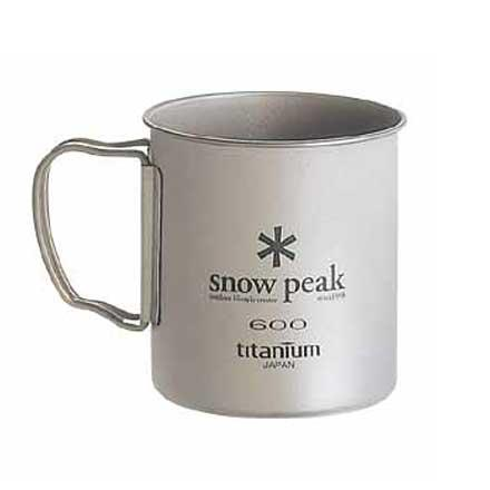 Camp and Hike Snow Peak Titanium Single Wall Cup 600 is rust proof and tough. This ultra light weight mug weighs just 80 grams and won't taint your coffee with a metallic taste. - $34.95