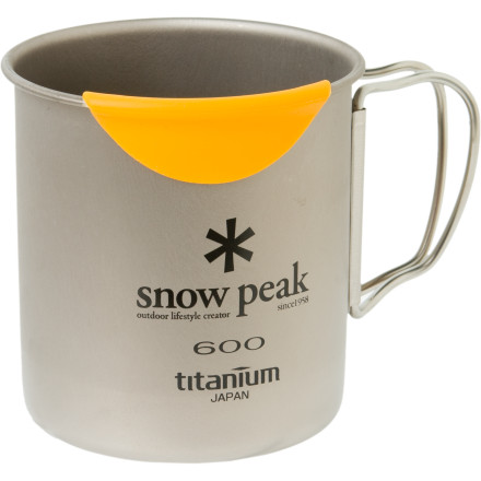 Camp and Hike Heating your cup of coffee directly on your stove can end in lip-searing disaster unless you slowly sip it out of the Snow Peak HotLips Titanium Mug. The HotLips' silicone mouth guard prevents painful burns on this 21oz (600mL) titanium mug, which easily heats your liquids on your small backpacking stove. - $29.56