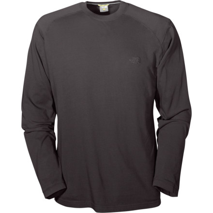 Climbing The North Face Long-Sleeve Crew is a beautifully simple climbing shirt. Made from 100% cotton, the Crew is soft and light as only cotton can be. Side vents at the hem give ventilation for when things heat up on a pitch. The Crew is garment washed before it leaves the factory so its color won't fade. - $20.97