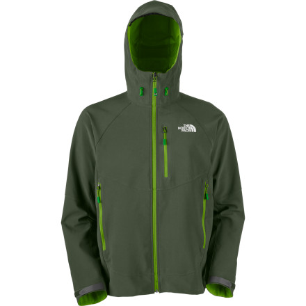 As part of its Summit Series, few would argue that The North Face Men's Kishtwar Softshell Jacket represents the ultimate in foul-weather outerwear for endurance athletes who tackle high-alpine endeavors. An alpine fit keeps this jacket close to your body for warmth and mobility, and the fully adjustable hood cinches down quickly and easily to protect your face. Polartec Power Shield Pro not only brings abrasion and water resistance to your trek, but it offers breathable performance that's second to none. - $111.58