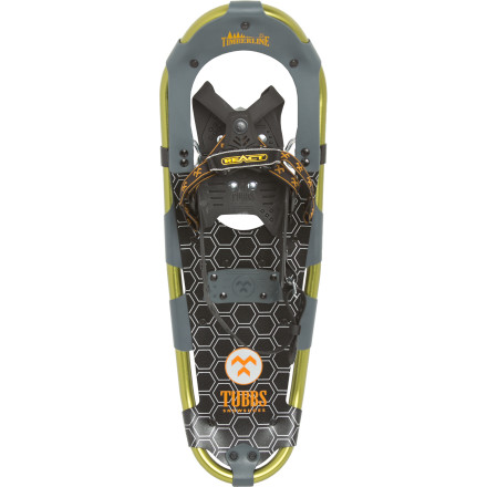 Camp and Hike The landscape is covered in a blanket of snow. And whether you're an avid hiker or you just need to make sure your dog gets enough exercise during the chilly months, the Tubbs Timberline Snowshoe can help. - $84.98