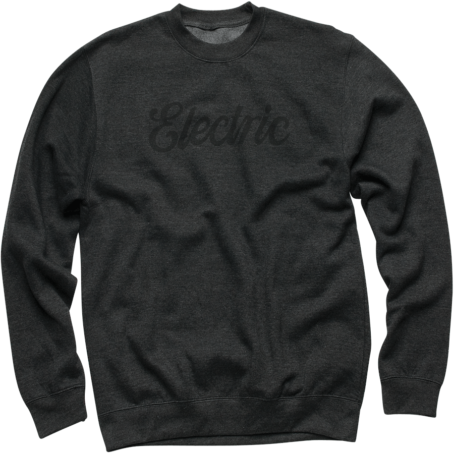Snowboard Electric Cursive Crew Neck Fleece - $38.45
