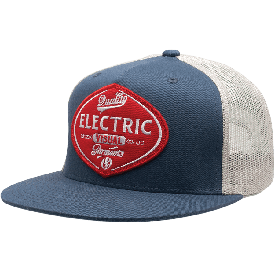 Snowboard The Electric FF LTD Hat in slate is a classic trucker style nylon/cotton snapback featuring custom embroidery. Hit the roads in the LTD Snapback. - $23.95