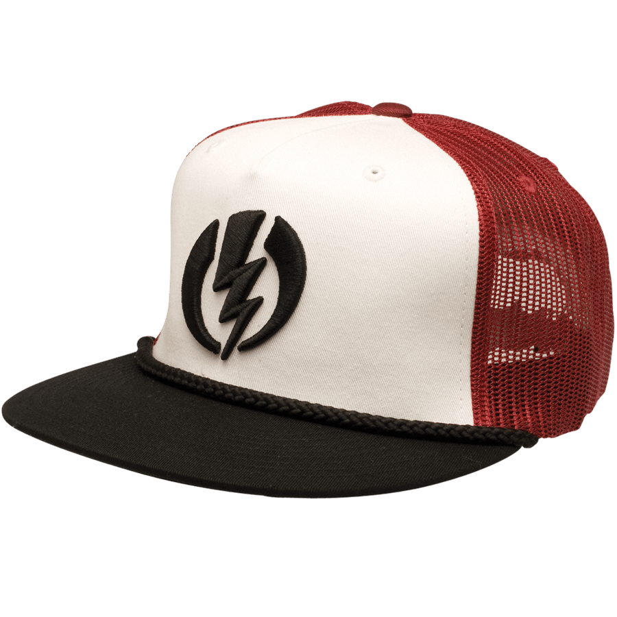 Snowboard The Electric FF New Volt Hat in Black Combo is a 5 panel Snapback blended of Acrylic, Wool, PU. The New Volt features custom embroidery and a visor cord. Turn up your Amp in Electric - $18.95