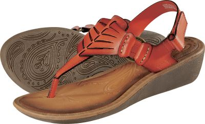 Surf Your feet will appreciate the carefree comfort of these buckle-closure thongs with leather uppers. Durable, padded midsoles and thick outsoles. Imported.Womens sizes: 6-10 medium width. Half sizes to 10.Colors: Honey, Orange. Type: Strappy Sandals. Size: 6 1/2. Shoe Width: ORANGE. Color: Medium. Size 6 1/2. Color Orange. Width Medium. - $19.99