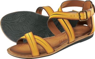 Surf Radiant hues complement any warm-weather wardrobe. Leather straps with adjustable buckle closures ensure a comfortable fit. Leather midsoles with flat rubber outsoles. Imported.Womens sizes: 6-10 medium width. Half sizes to 10.Colors: Fuchsia, Yellow. Type: Strappy Sandals. Size: 6. Shoe Width: FUCHSIA. Color: Medium. Size 6. Color Fuchsia. Width Medium. - $29.99