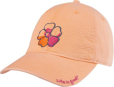 Broken-in comfort and a flowery logo to complement your girls ensemble. 100% cotton twill construction. Fabric and garment washed for softness. Adjustable back closure. Imported.Sizes: Small, Medium/Large.Color: Tangerine Orange. - $12.88