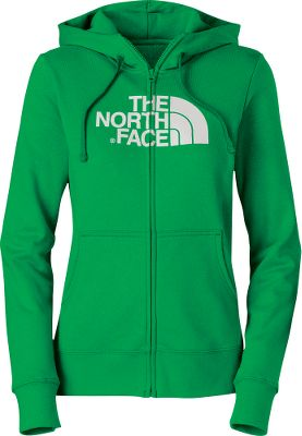 The North Faces Womens Half Dome Full-Zip Hoodie is made of easy-care 80/20 cotton/polyester fleece. Sports large hand pockets and a double-layered hood with drawcord. 1 ribbed cuffs and hem. Screen-printed logo. Imported. Center back length: 25.25. Sizes: S-2XL. Colors:Heather Grey/TNF White, Kokomo Green Heather/Surf Green, Snowcone Red/Garnet Purple, Starry Purple/Surf Green. Size: XL. Color: Snowcone Rd/Grnt Pur. Gender: Female. Age Group: Adult. Material: Polyester. - $29.88