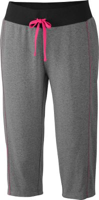 Great for active days that require a little more coverage, the jersey-blend fabric and Omni-Wick technology of these Columbia Heather Honey II capris quickly dissipates away from your skin for a more comfortable workout. The active fit, midrise design and straight legs are easy to wear for a variety of activities. 57/43 cotton/polyester. Imported.Inseam: 18.Sizes: S-XL.Colors: Coal/Bright Rose, Flint Grey/Radiation. - $24.88