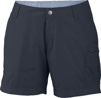 Constructed from Columbias Adventura blended fabric, these modern, classic-fit casual shorts are tough enough to handle the wear and tear a summer filled with adventure. UPF rating of 15. Zip-close security pocket. 66/34 cotton/nylon. Imported. Inseam: 4. Even sizes: 4-16. Colors: Fossil, India Ink, Major. Size: 16. Color: Fossil. Gender: Female. Age Group: Adult. Material: Cotton. Type: Shorts. - $14.88