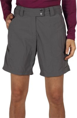 Lightweight, quick-drying 100% nylon with a stain-resistant coating for any outdoor adventure you have in mind. The relaxed fit sports a tricot-lined waistband for comfort, while a Sun Guard UPF rating of 30+ protects you from the sun. Two zippered security pockets. Extended front waistband snap closure. Imported.Inseam: 8.Even sizes: 4-18.Colors: Light Khaki, Slate, Midnight. - $14.88