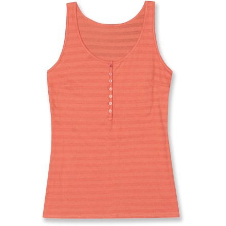 Surf It might look simple, but behind its minimal design the Aventura Collin tank top has all the features of a wardrobe essential: soft and incredibly comfortable with just the right amount of detail. Lightweight cotton jersey is soft next to skin and features a touch of stretch. Alternating sheer and opaque horizontal stripes add detail without being distracting. Aventura Collin tank top features a relaxed fit for all-day comfort. - $10.83