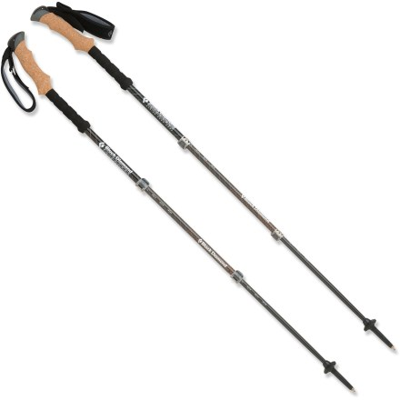 Camp and Hike The Black Diamond Alpine Ergo Cork trekking poles help keep you going at any altitude with goatlike sure-footedness and ease of use. - $119.93
