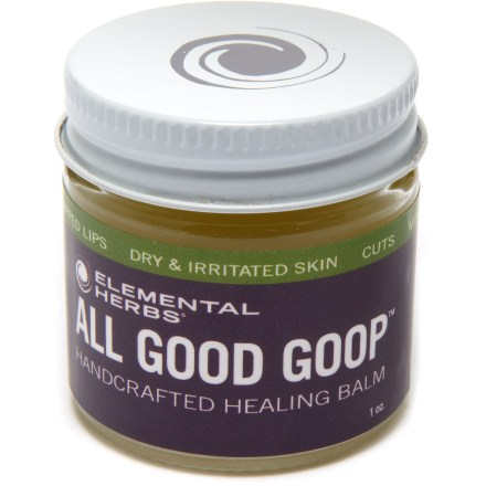 Camp and Hike Elemental Herbs All Good Goop balm is strong enough to soothe a climber's raw knuckles yet gentle enough to be used on a child's sensitive skin. - $7.95