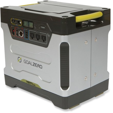 Camp and Hike The Goal Zero Yeti 1250 solar generator silently cranks out big backup power that's suitable for large appliances, such as a refrigerator and a freezer or home health-care equipment. - $1,599.95