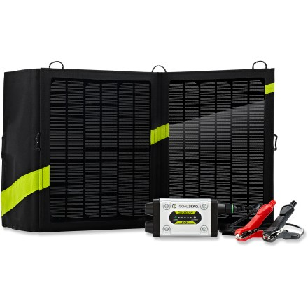 Camp and Hike The Goal Zero Guardian 12V Solar recharging kit combines the Guardian charge controller's portable convenience with the compact, efficient Nomad 13 solar panel to keep your 12V batteries juiced up. - $199.95