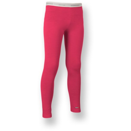 Camp and Hike The girls' Icebreaker Bodyfit 200 merino wool leggings are an essential layer of clothing for cold days of biking, hiking, snow sports and everyday use. Soft and warm merino wool naturally resists odor. Fabric provides UPF 50+ sun protection, shielding skin from harmful ultraviolet rays. Icebreaker merino wool leggings feature flatlock seams that help eliminate chafing. Machine washable; line dry or dry flat in shade. Closeout. - $17.73