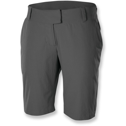 Camp and Hike Like to travel? So do these shorts. Pack along the Isis Portofino shorts and be ready for adventure! High-stretch fabric moves with you on your jaunts near or far. Easy care fabric packs well, resists wrinkles. Hidden waistband pocket keeps essentials close. Isis favorite rise sits below the waist, just at your belly button; longer rise in back. - $47.93
