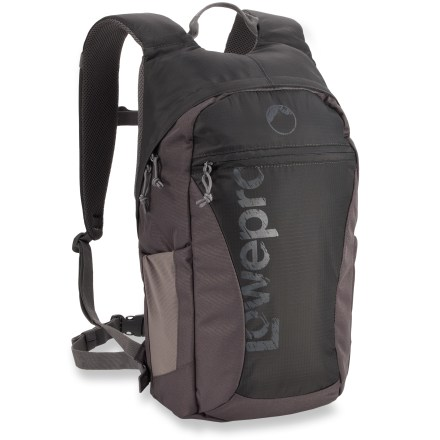 Entertainment The Lowepro Photo Hatchback 16L AW camera pack offers a sleek and compact solution for carrying camera gear, a tablet and creature comforts on your outdoor excursions. - $19.93