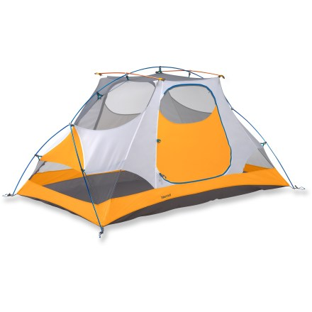 Camp and Hike The Marmot Firefly tent provides 2 backpackers ultimate space and comfort. After a long day on the trail, you'll appreciate its convenient features; plus, it comes with a gear loft and footprint. - $239.93