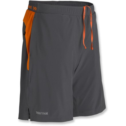 Fitness Smooth and comfortable with plenty of coverage, the Marmot Ascend shorts won't hold you back from digging deep and letting yourself go during the run. Quick-drying, moisture wicking fabric lends a high degree of stretch and breathability to the Marmot Ascend shorts. Liner briefs increase comfort, wick moisture and dry quickly. Fabric protects skin from harsh UV light with a UPF rating of 30. Dial in the fit with the elastic drawcord waist. 2 open hand pockets and a zippered rear pocket stash accessories. The Marmot Ascend shorts enhance visibility with reflective highlights, and feature a relaxed fit. - $37.93
