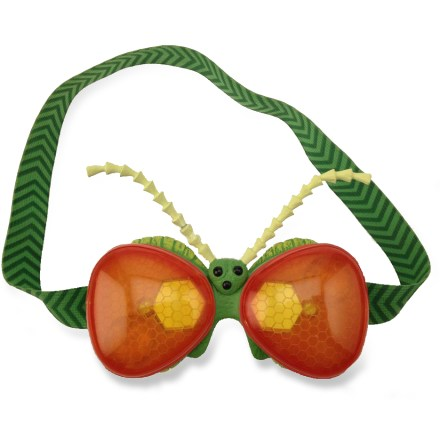 Camp and Hike Check out the world from an insect's perspective with the Nat Geo WILD(TM) Bugs Eye Vision Goggles! Remove the gold lenses, rotate them and snap back in place to see different views. Sturdy plastic mask has a softer plastic around the face for comfort. Elastic strap can be adjusted to fit. - $14.50