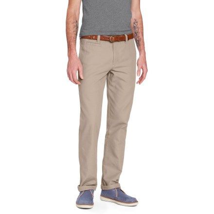 The slim-fitting Nau Dayuse Chino pants keep you looking sharp during business meetings and dinner dates. - $23.83