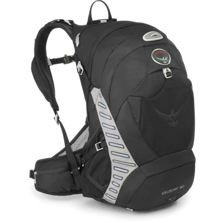 Camp and Hike The largest pack in the Escapist series, the Osprey Escapist 30 pack maximizes your gear-hauling volume, making it perfect for all-day adventures or overnight hut-to-hut trips. - $99.93