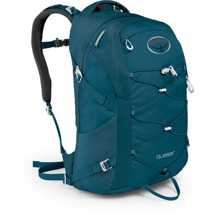 Entertainment The Opsrey Quasar daypack bridges the gap between your work day and after work play. Carry a laptop and papers, or rain gear, extra food and a layer. - $66.93