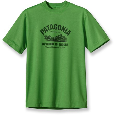 The Patagonia Polarized Graphic T-shirt is made of super comfortable polyester jersey fabric with UPF 20 sun protection. - $13.83