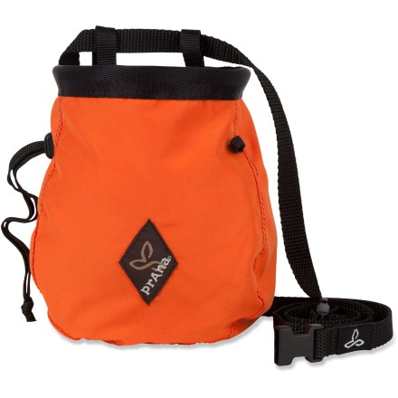 Climbing Dip into this prAna chalk bag to keep your hands dry and grippy while working a route. - $20.00