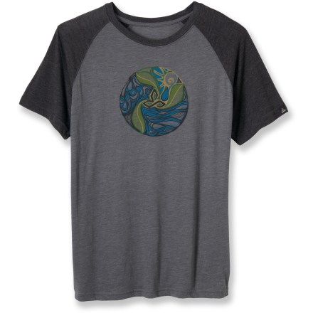Enjoy the world's many beautiful places in the prAna Big Sur T-shirt. Lightweight heathered cotton/polyester blend has a soft hand. Includes a water-based screen print on the chest. prAna Big Sur T-shirt has a standard fit. - $19.93
