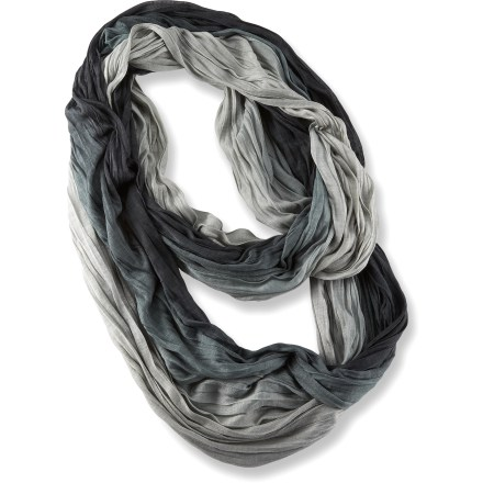 The REI Ombre Jersey Infinity scarf gives your winter wardrobe a touch of new life. Viscose fabric features an ombre dye that transitions between different shades of color. REI Ombre Jersey Infinity scarf is 1 large loop that measures 72 in. in circumference x 19 in. wide. - $19.93