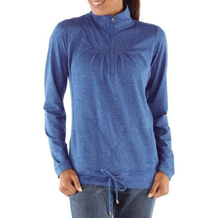 Camp and Hike With a beautiful hand and great-fitting 4-way stretch, the REI Northway Half-Zip plus-size top is perfect for traveling near and far. Easy-care polyester is blended with a touch of elastane for the perfect fit and drape. Mock neck zipper; zip up for protection or zip down for ventilation. Hem drawcord seals in warmth. 2 hand pockets. Feminine tuck detail at front yoke and slimming princess seams. The plus-size REI Northway Half-Zip top has a classic, easy-wearing fit. - $44.93