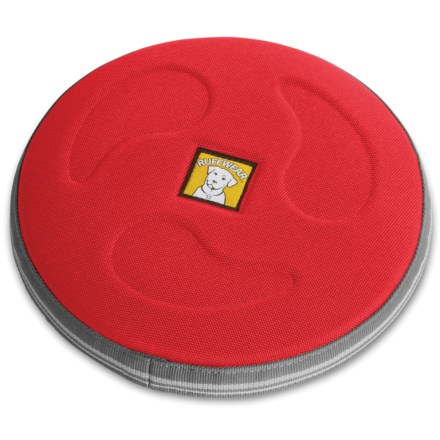 Camp and Hike The large Ruffwear Hover Craft flying disc floats, flies far, and endures powerful jaws and sharp teeth for the ultimate game of fetch. - $12.83