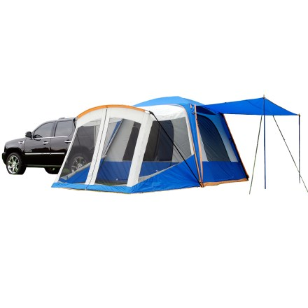 Camp and Hike What a comfortable way to camp! The Sportz SUV 84000 Tent with Screen Room offers large interior space for the family, a front porch and an awning, plus it attaches directly to your SUV or Minivan. - $369.95
