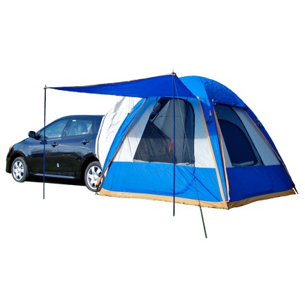 Camp and Hike The Sportz Dome-To-Go car tent converts your hatchback or compact utility vehicle to the ultimate outdoor adventure machine. - $279.95