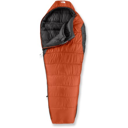 Camp and Hike An efficient mummy bag but with room to stretch, The North Face Elkhorn -20F synthetic sleeping bag is a great choice for cold-weather camping. - $149.93