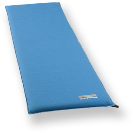 Camp and Hike The X-large Therm-a-Rest BaseCamp is a self-inflating camp mattress that provides excellent comfort for those over 6 ft. tall. This series is created for campers whose greatest interest is sleeping comfort; perfect for car campers, family campers and base campers. Expanded and die-cut foams provide exceptional comfort. Thick and warm 2 in. solid-foam core provides dependable insulation and cushioning from the cold, hard ground. Closeout. - $74.73
