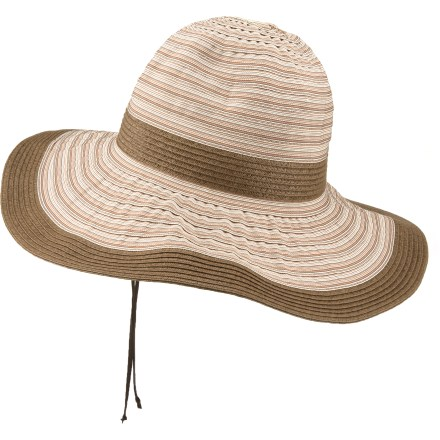 The charming Wallaroo Ginger hat can go with you anywhere-from a casual beach trip to a classy outdoor picnic with friends. Layered polyester ribbons in neutral earth tones and paper braid trim and band create a flattering design that coordinates with lots of outfits. With a UPF 50+ rating, fabric provides excellent protection against harmful ultraviolet rays. A thin wire in the 4-in-wide brim lets you shape it just the way you like. Wallaroo Ginger hat has hidden internal drawstrings that adjust the fit to your head. - $25.93